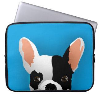 Bulldog art - french bulldog laptop sleeve