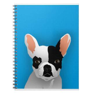 Bulldog art - french bulldog notebook