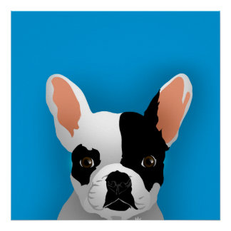 Bulldog art - french bulldog poster