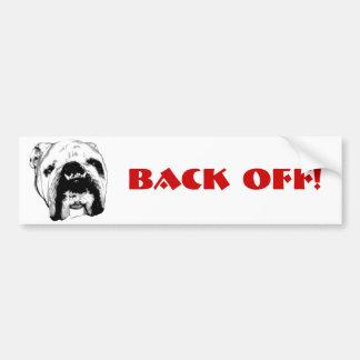 Bulldog Back Off! Bumper Sticker