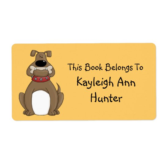 Bulldog Bookplate Label