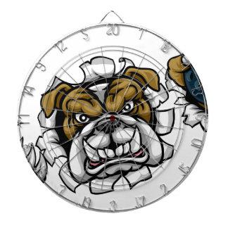 Bulldog Bowling Sports Mascot Dartboard
