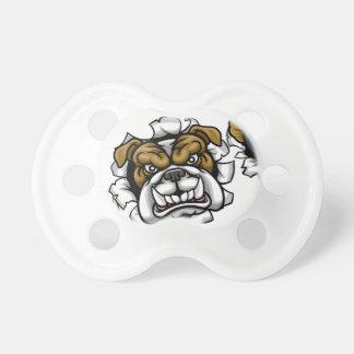 Bulldog Bowling Sports Mascot Pacifier