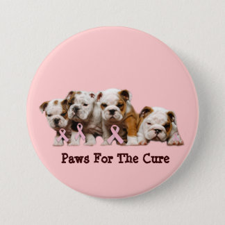 Bulldog Breast Cancer Button