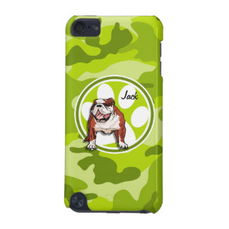 Bulldog bright green camo camouflage iPod touch 5G cover