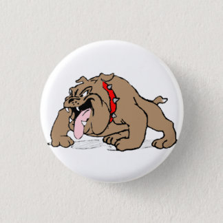 Bulldog Cartoon Art 1 Inch Round Button