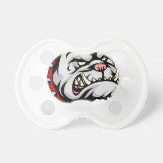 Bulldog Cartoon Mascot Pacifiers