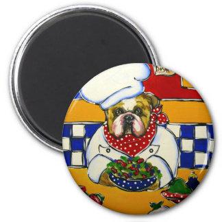 Bulldog Chef Magnet