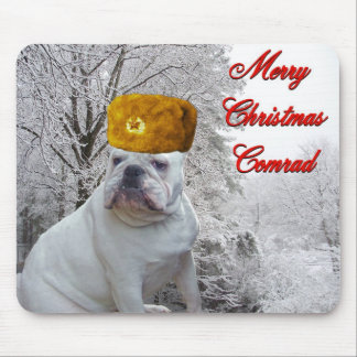 Bulldog Christmas mousepad