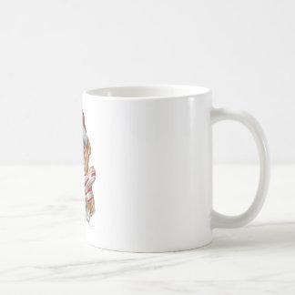 Bulldog christmas basic white mug