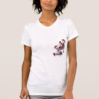 Bulldog Christmas Nightshirt Tee Shirt