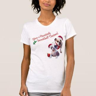 Bulldog Christmas Nightshirt Tee Shirts