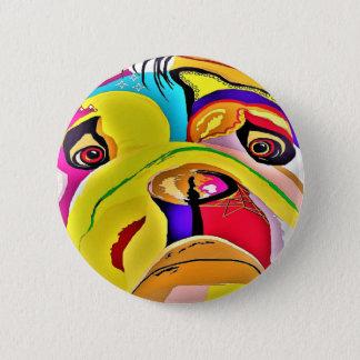 Bulldog Close-up 2 Inch Round Button