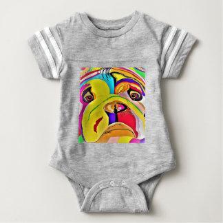 Bulldog Close-up Baby Bodysuit