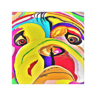 Bulldog Close-up Canvas Print
