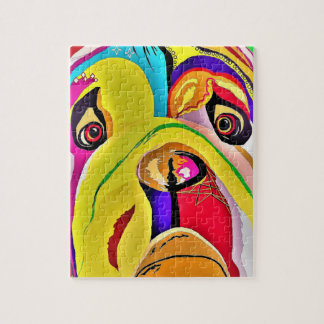 Bulldog Close-up Jigsaw Puzzle