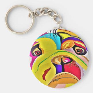 Bulldog Close-up Keychain