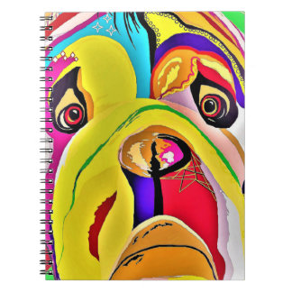Bulldog Close-up Notebook