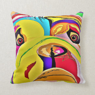 Bulldog Close-up Throw Pillow