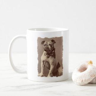 Bulldog coffee mug vintage illustration