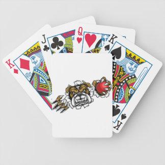 Bulldog Cricket Sports Mascot Bicycle Playing Cards