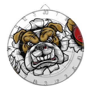 Bulldog Cricket Sports Mascot Dartboard