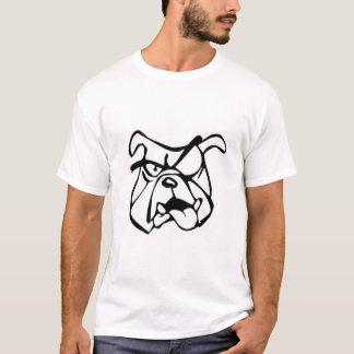 bulldog Custom Choppers Iron Cross w/bulldog white T-Shirt