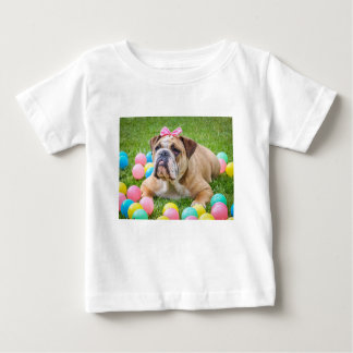 Bulldog Cute Easter Animal Dog Hundeportrait Pet Baby T-Shirt