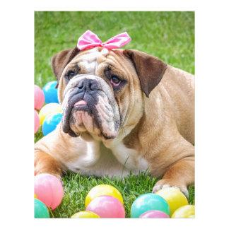 Bulldog Cute Easter Animal Dog Hundeportrait Pet Letterhead