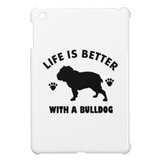 Bulldog design iPad mini case