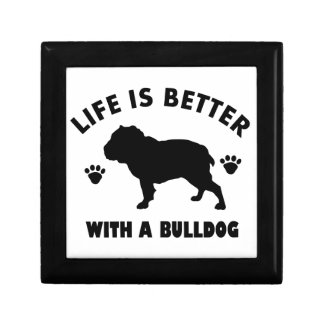 Bulldog design keepsake boxes