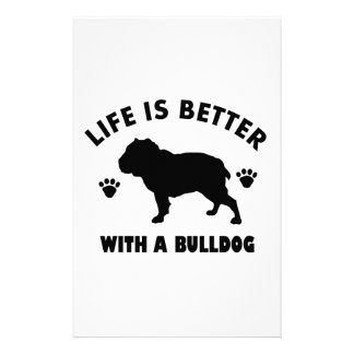 Bulldog design stationery design