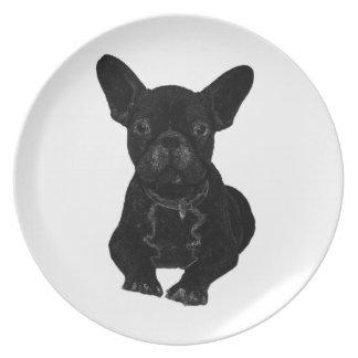 Bulldog Dinner Plates