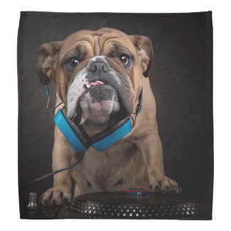 bulldog dj - dj dog bandana
