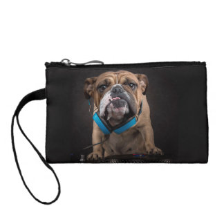 bulldog dj - dj dog coin purse