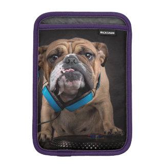 bulldog dj - dj dog iPad mini sleeve