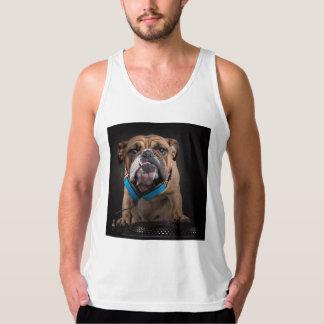 bulldog dj - dj dog tank top