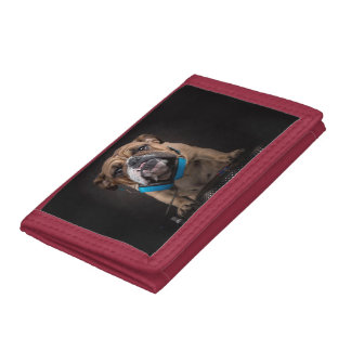 bulldog dj - dj dog trifold wallet