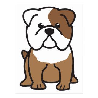 Bulldog Dog Cartoon Postcard