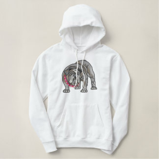 Bulldog Embroidered Hoodie