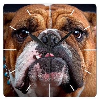 Bulldog English Bad Face Clocks