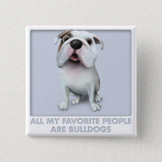 Bulldog (English) Favorites 2 Inch Square Button