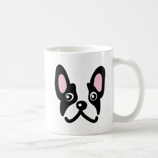 Bulldog face coffee mug