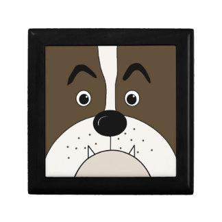 Bulldog face gift box