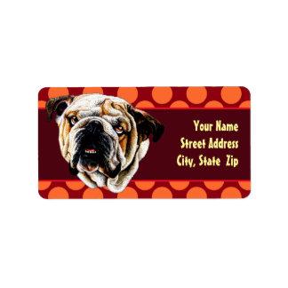 Bulldog Face Label