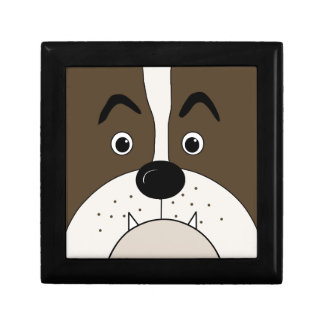 Bulldog face trinket box