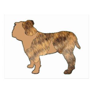 bulldog fawn and brindle  silo postcard