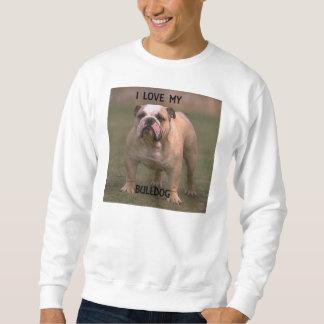 bulldog fawn and white love w pic sweatshirt