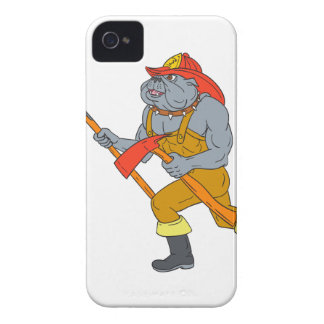 Bulldog Firefighter Pike Pole Fire Axe Drawing Case-Mate iPhone 4 Cases