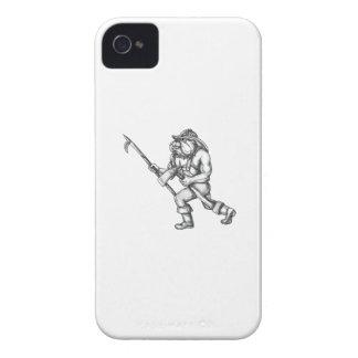 Bulldog Firefighter Pike Pole Fire Axe Tattoo Case-Mate iPhone 4 Cases